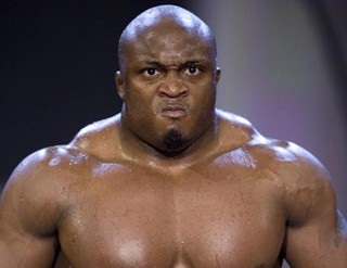 "Bobby Lashley defeats Bob ""The Beast"" Sapp !"