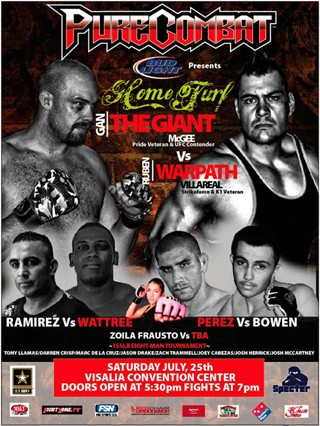 "Gan ""The Giant"" McGee vs Anthony ""The Atrain"" Ruiz  as  Purecombat Presents"