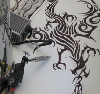 Tribal Art - Hand Drawn Tribal Dragon by David Arredondo