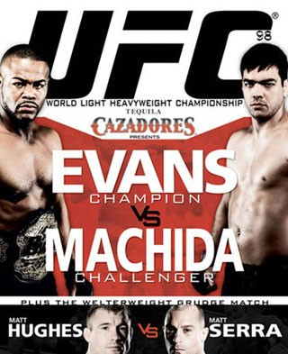 RASHAD EVANS VS LYOTO MACHIDA  ; UFC 98