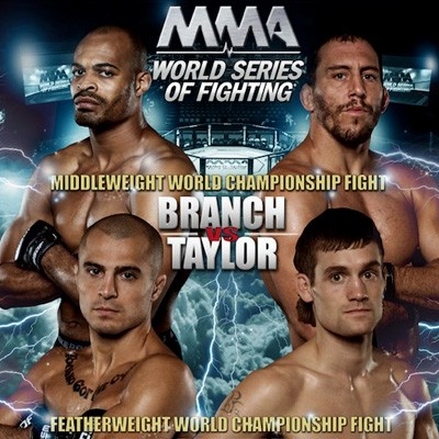 World Series of Fighting 10 Televised Results: Branch Makes Quick Work of Taylor; Aguilar Defends Title; Glenn Dethrones Karakhanyan