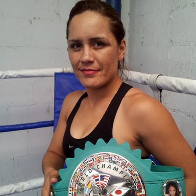 WBC Female Super Bantamweight Champion and WBC Female Bantamweight Champion Yazmin Rivas