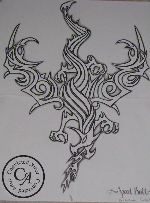 You are browsing images from the article: Tribal Art - Hand Drawn Tribal Dragon by David Arredondo